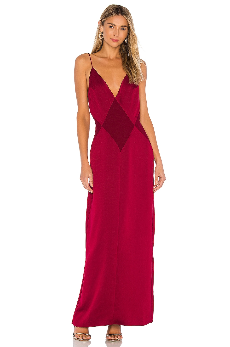 L'Academie The Joelle Maxi Dress in Rumba Red