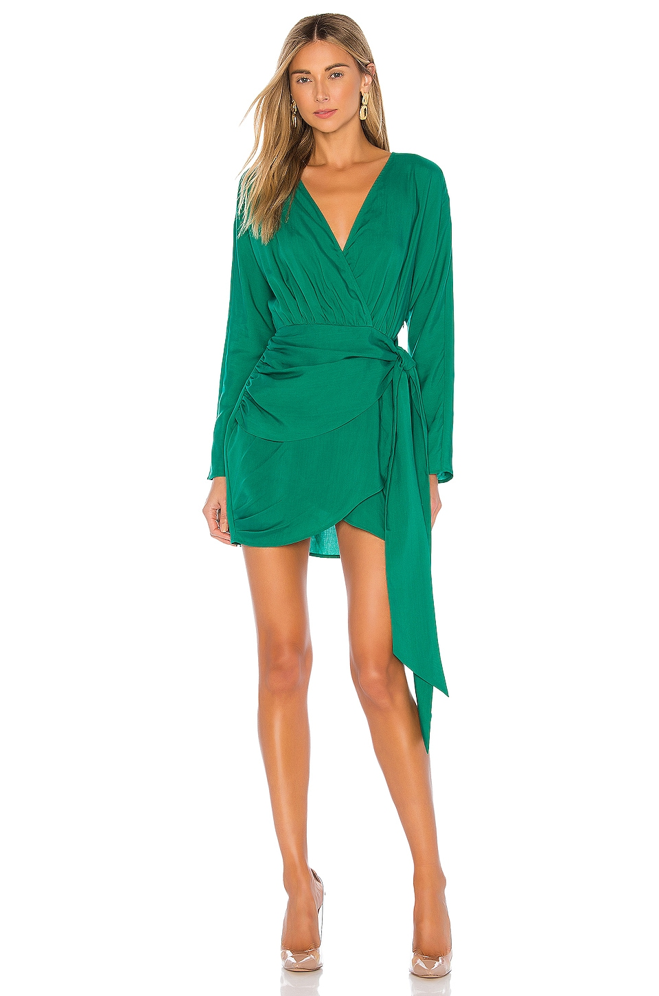 L'Academie The Lorriana Mini Dress in Green