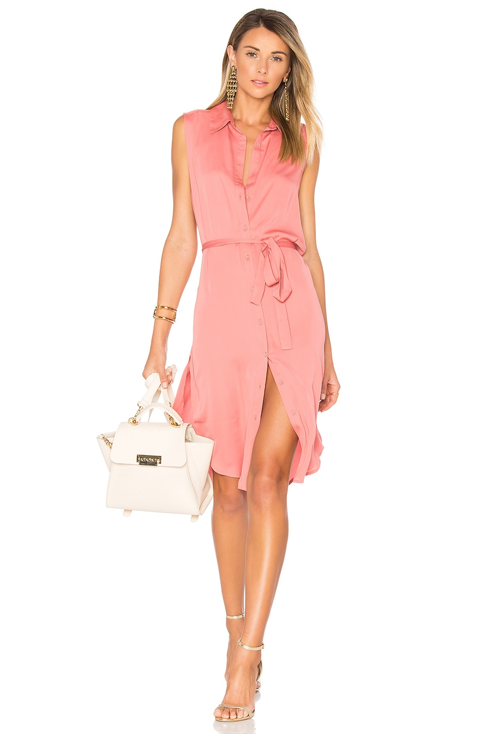 L'Academie The Sleeveless Midi Dress in English Rose