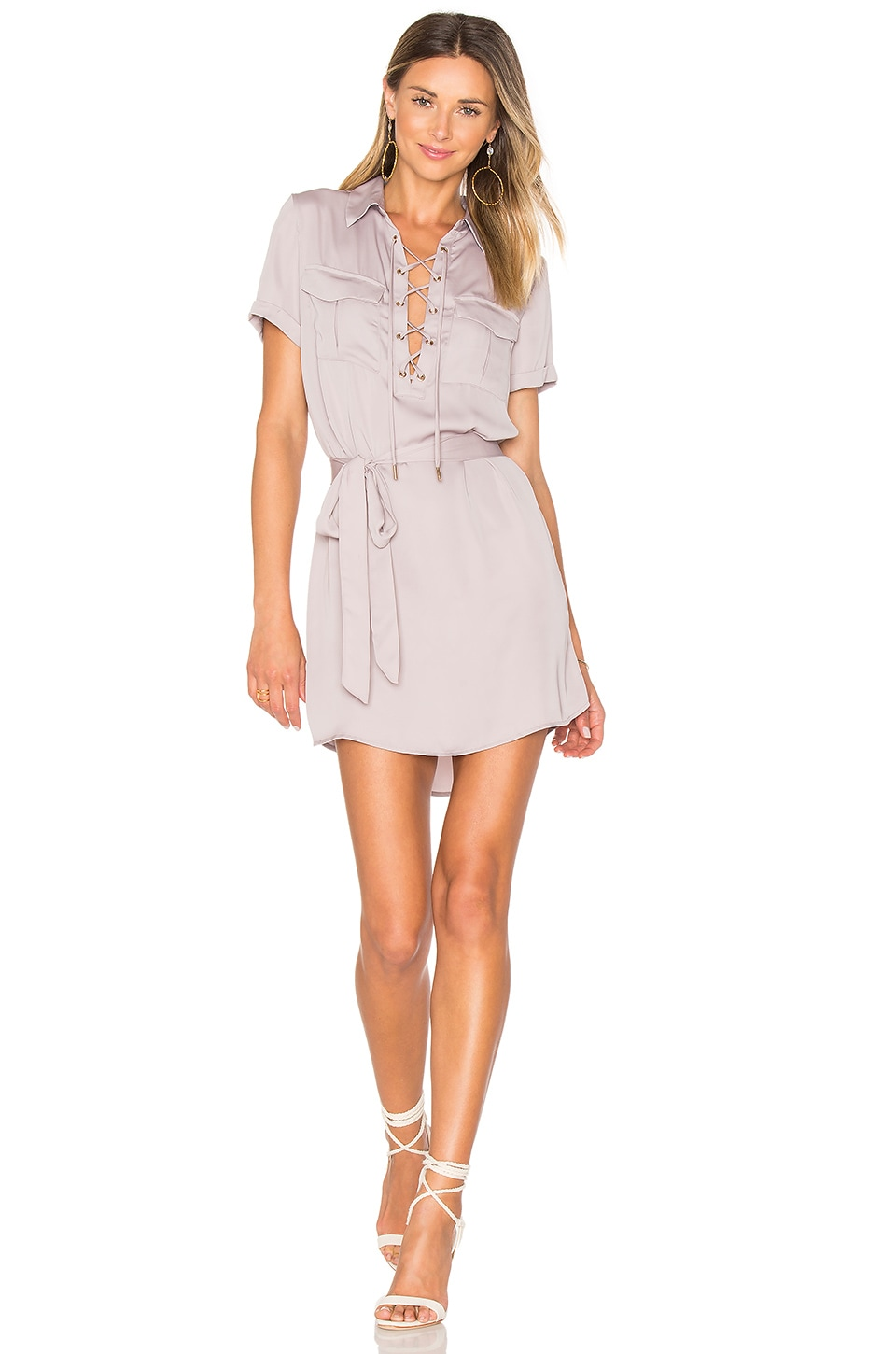 L'Academie The Safari Dress in Mauve