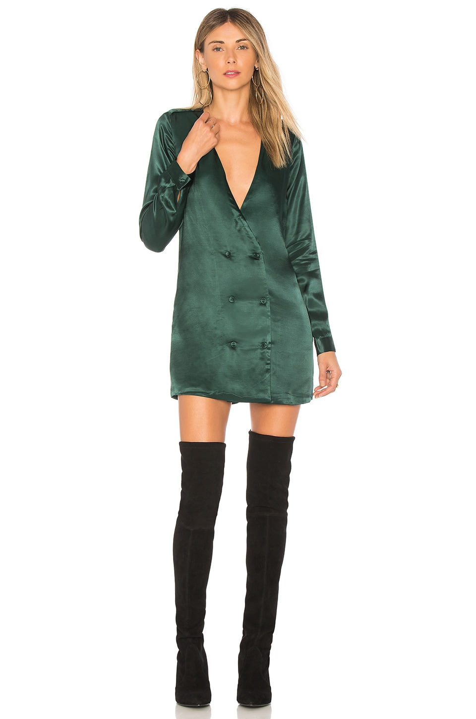 L'Academie The Cadet Dress in Emerald