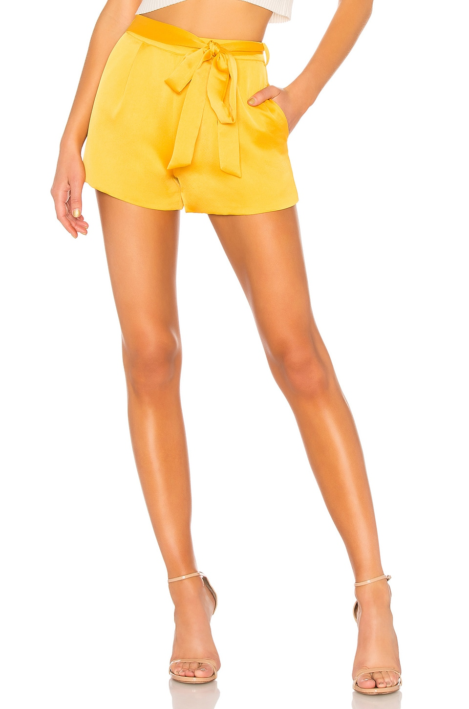 L'Academie The Londyn Short in Mustard Yellow