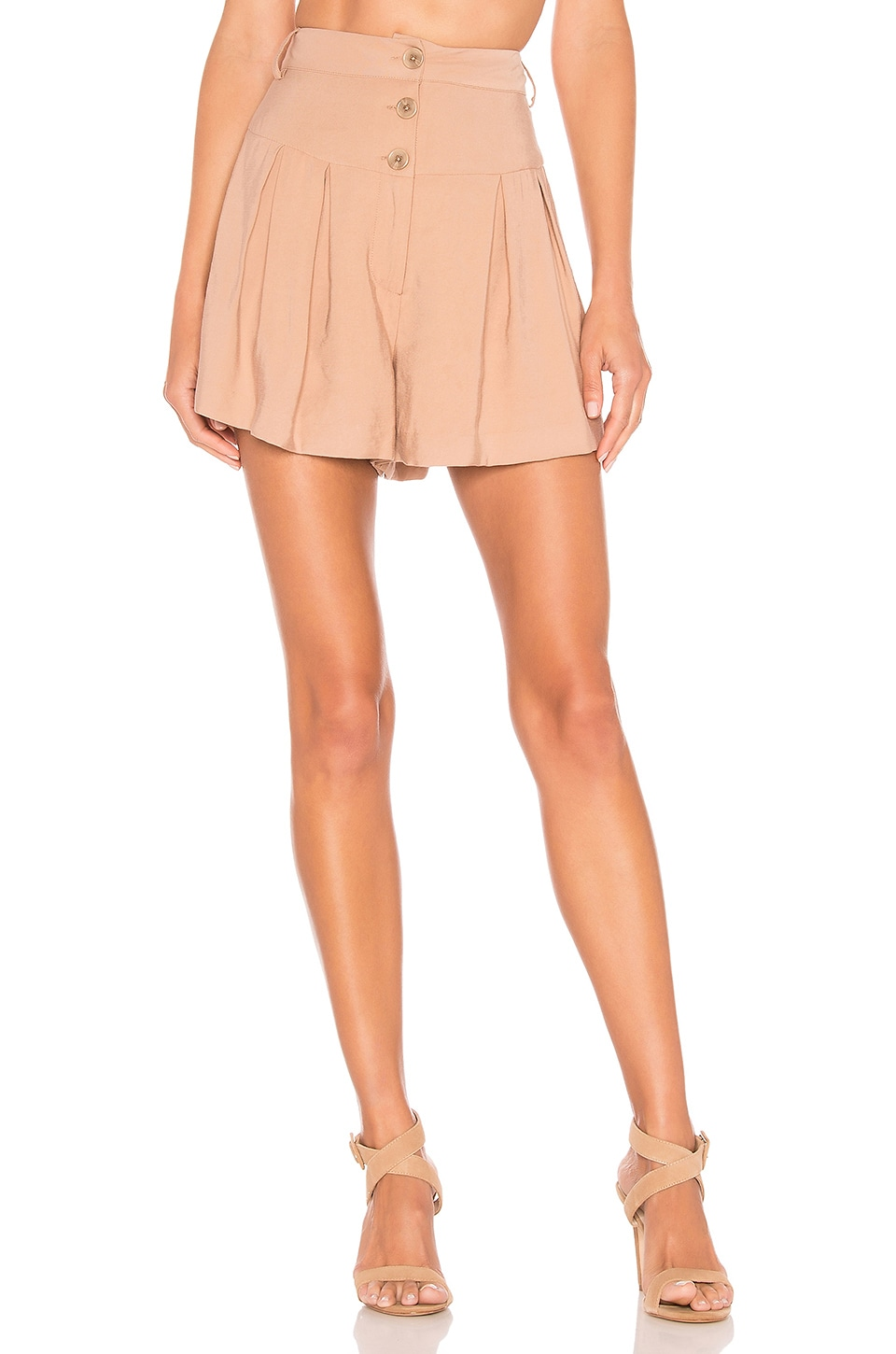 L'Academie Delightful Shorts in Taupe