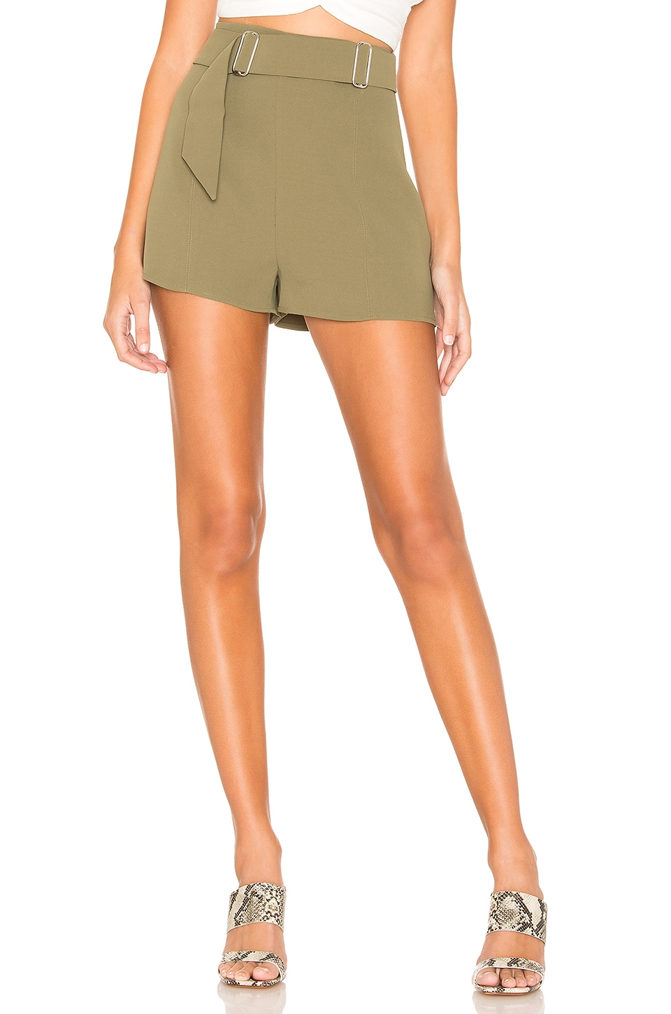 L'Academie Jax Shorts in Olive