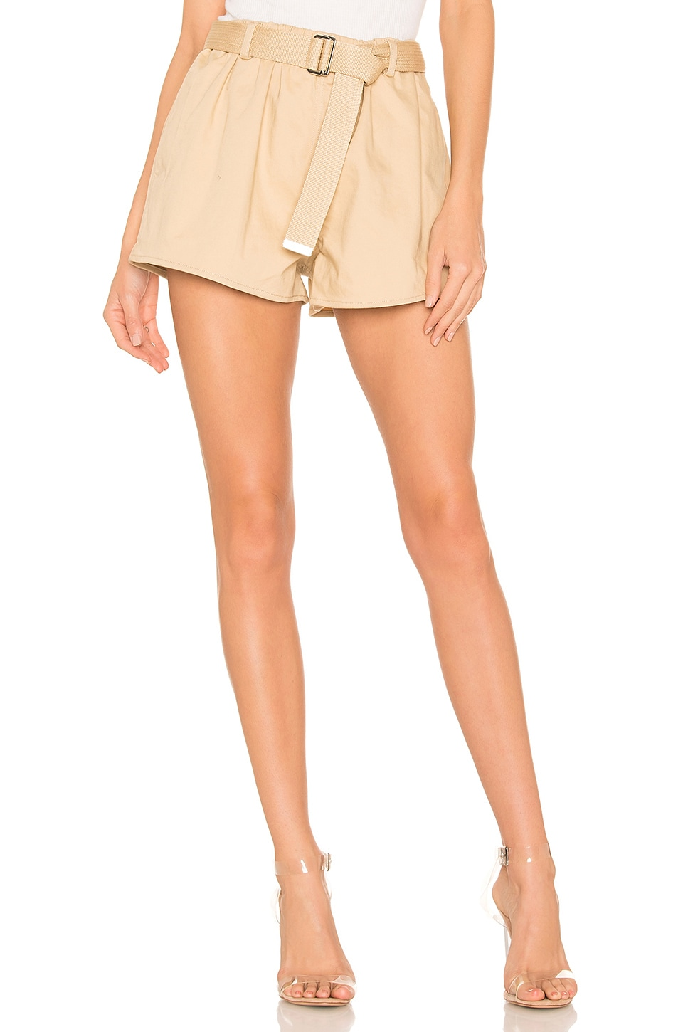 L'Academie The Ava Short in Beige
