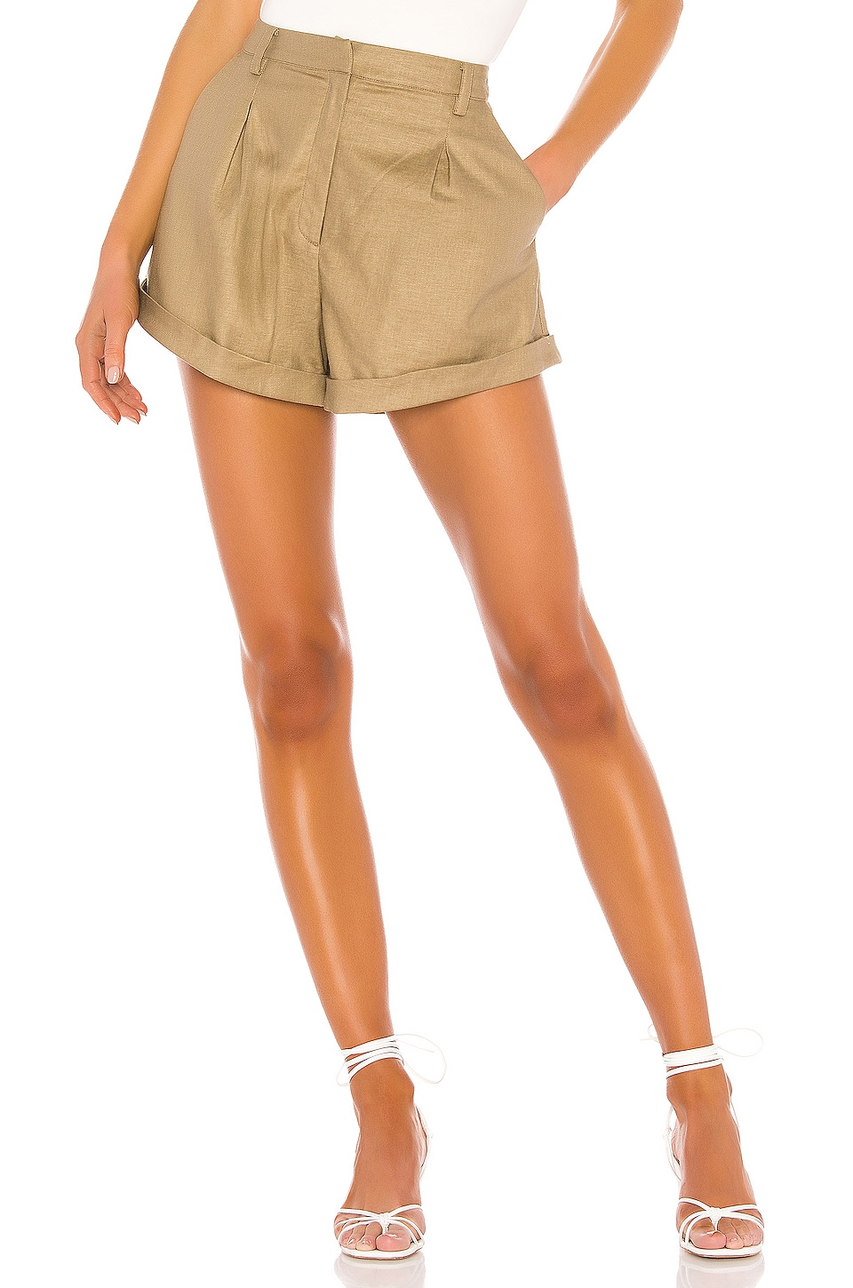 L'Academie The Jac Short in Olive Green