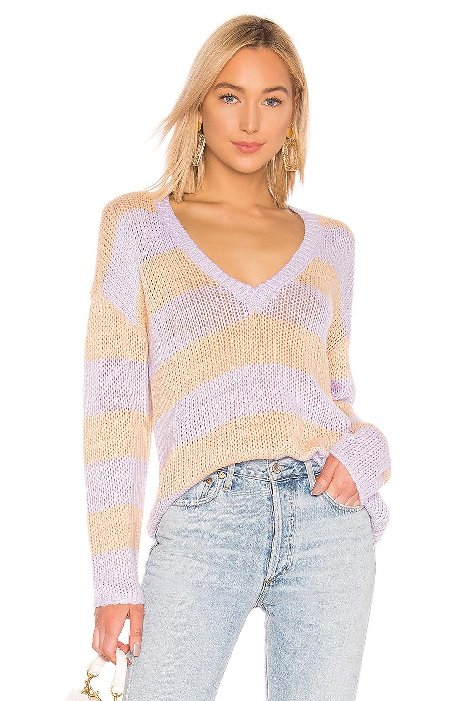 L'Academie Park Sweater in Lavender & Nude