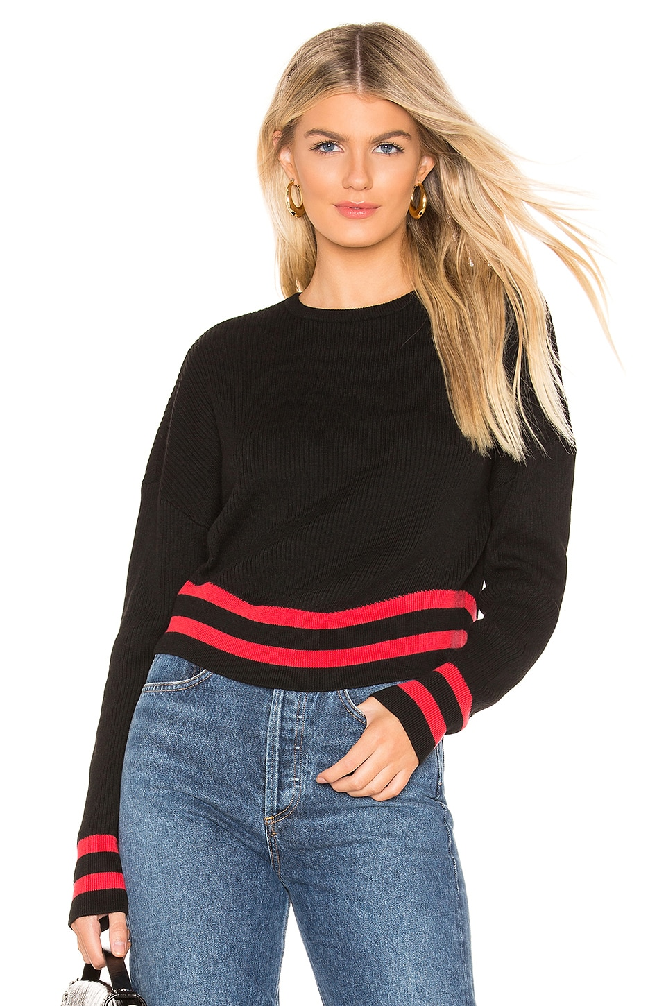 L'Academie No Limits Sweater in Black & Red