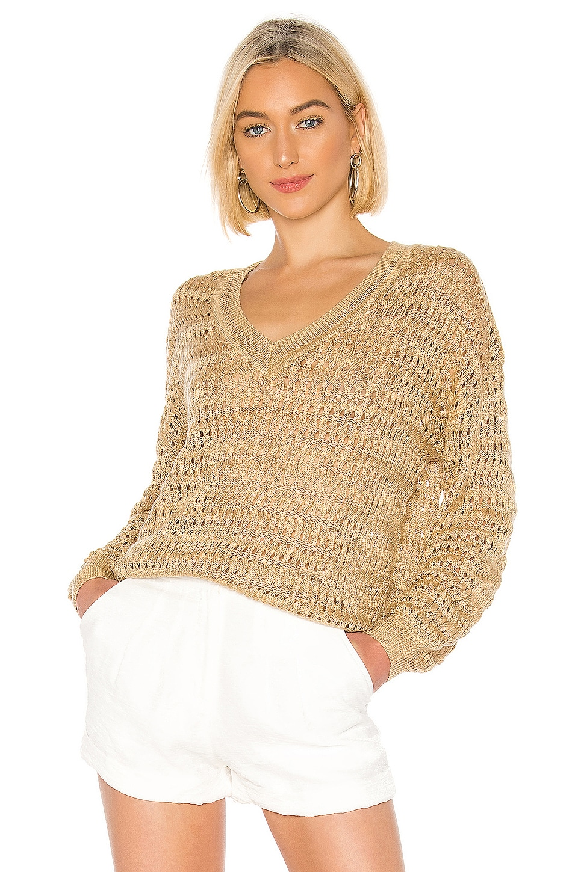 L'Academie Camellia Sweater in Sand