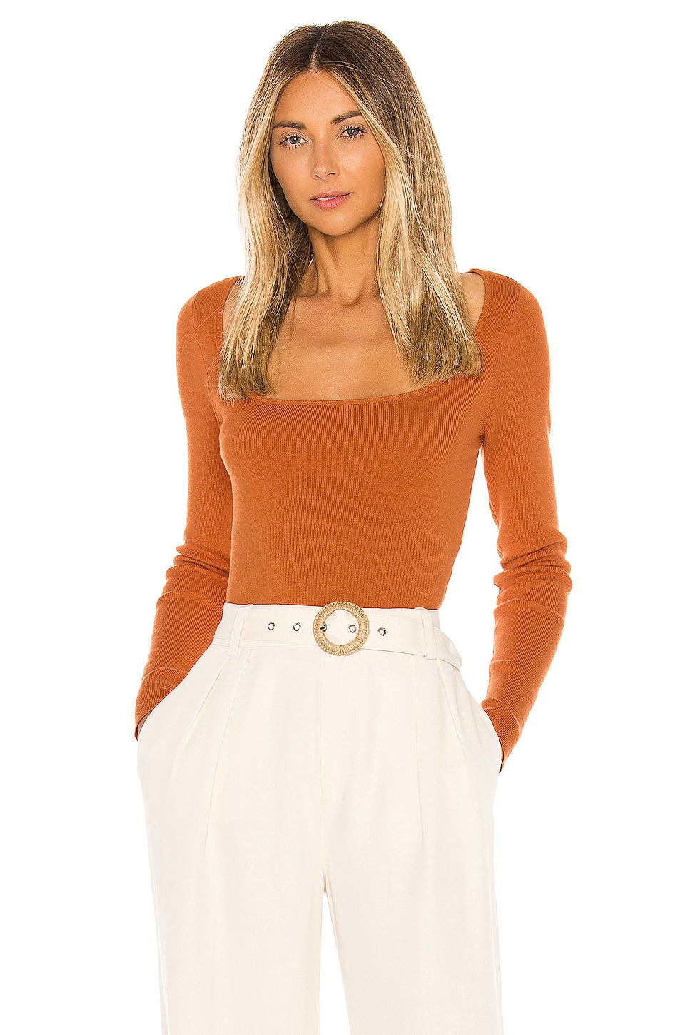 L'Academie Anita Sweater in Rust Orange