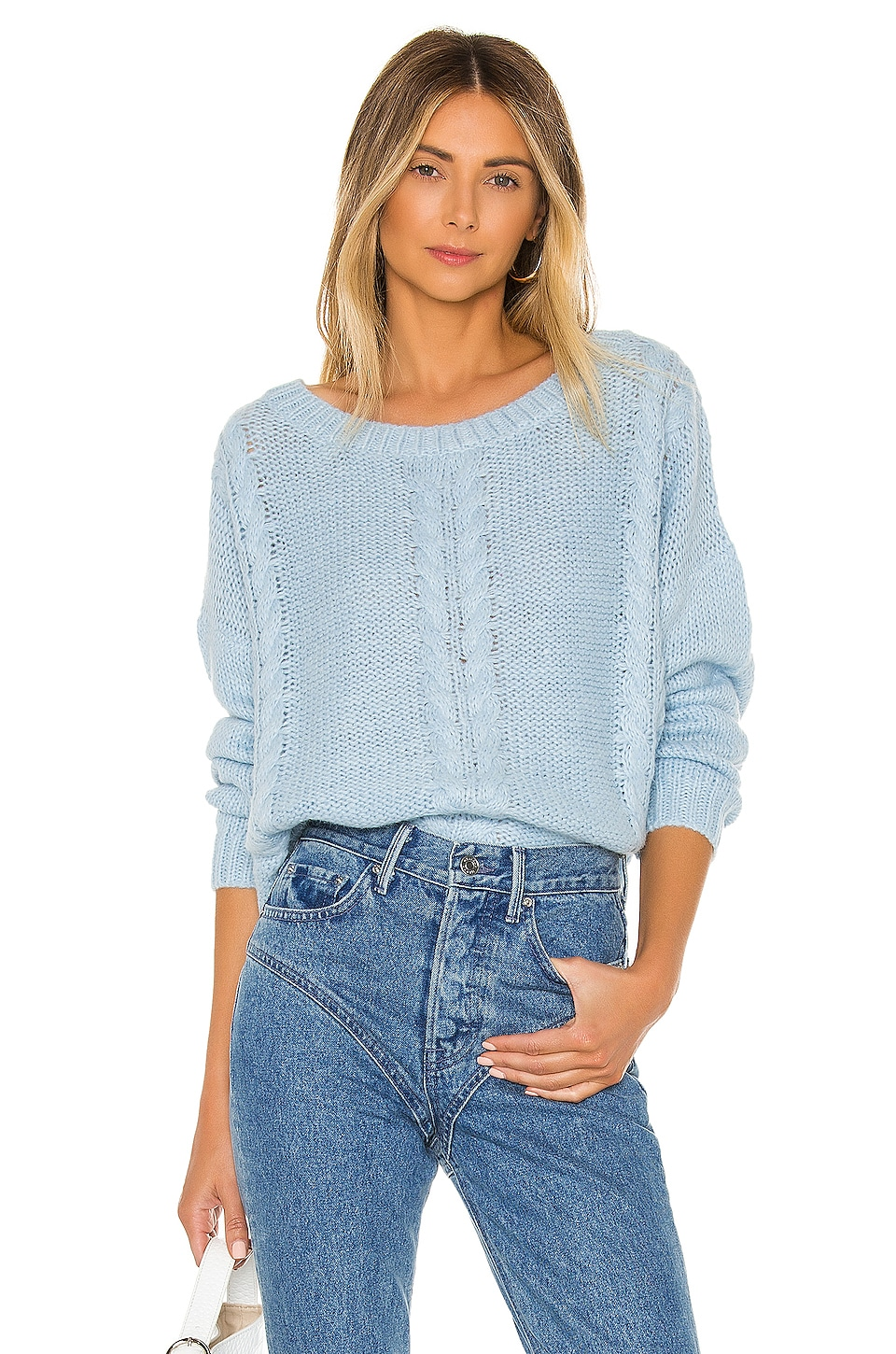 L'Academie Aruba Sweater in Aqua