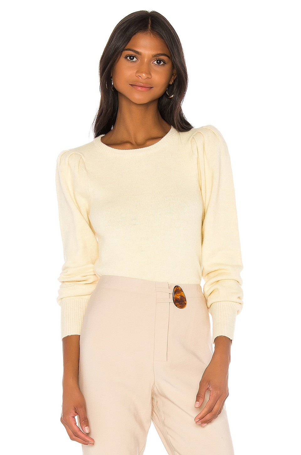 L'Academie The Ashley Sweater in Light Yellow