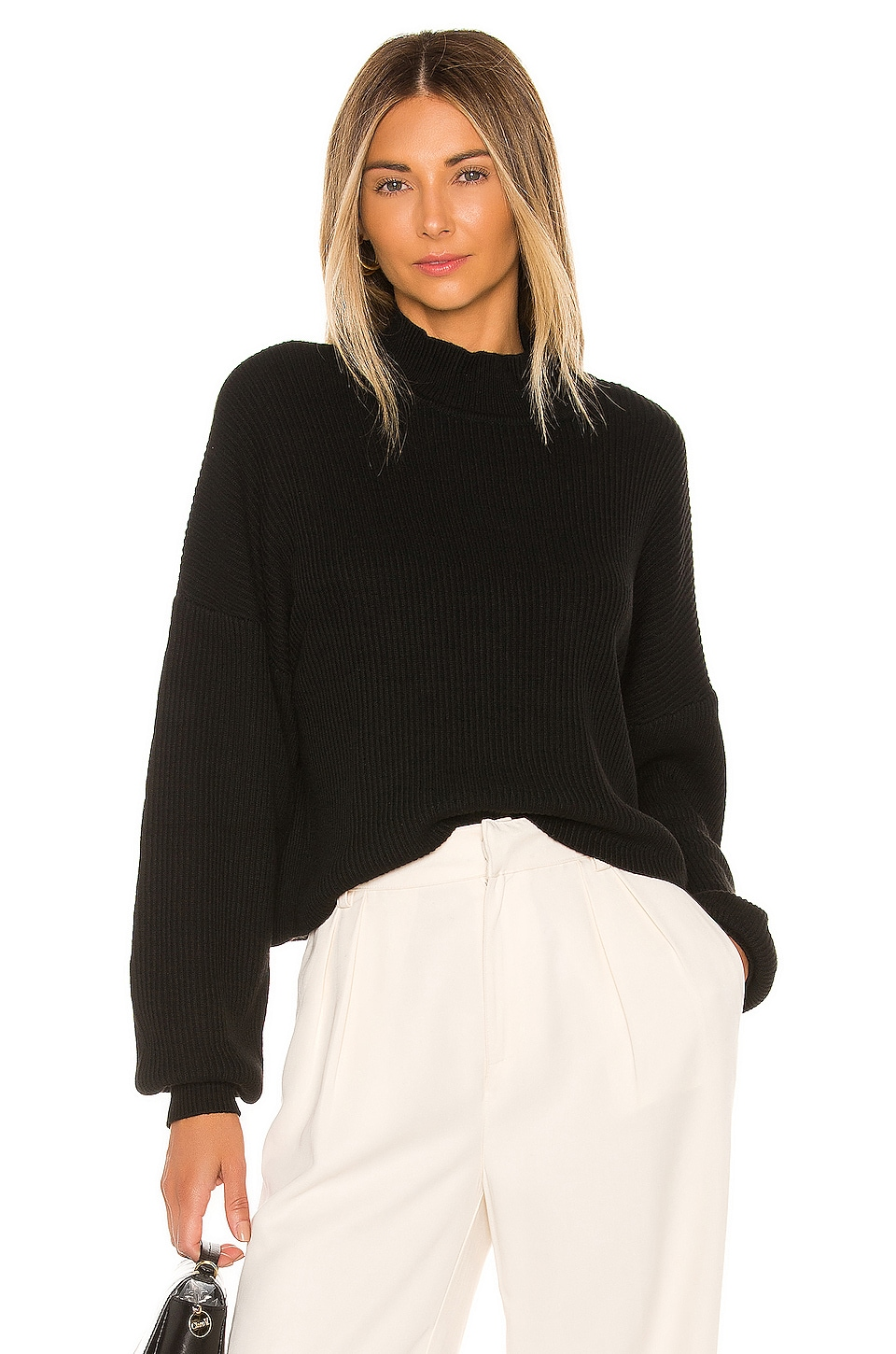 L'Academie Dana Sweater in Black