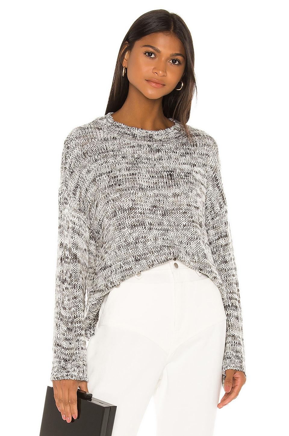 L'Academie Angus Oversized Sweater in Granite