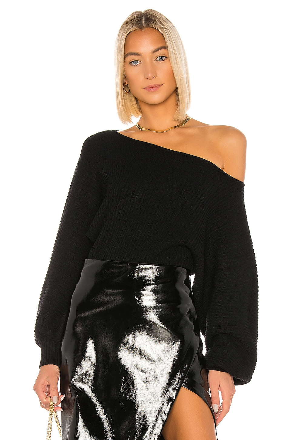L'Academie Indre Sweater in Black
