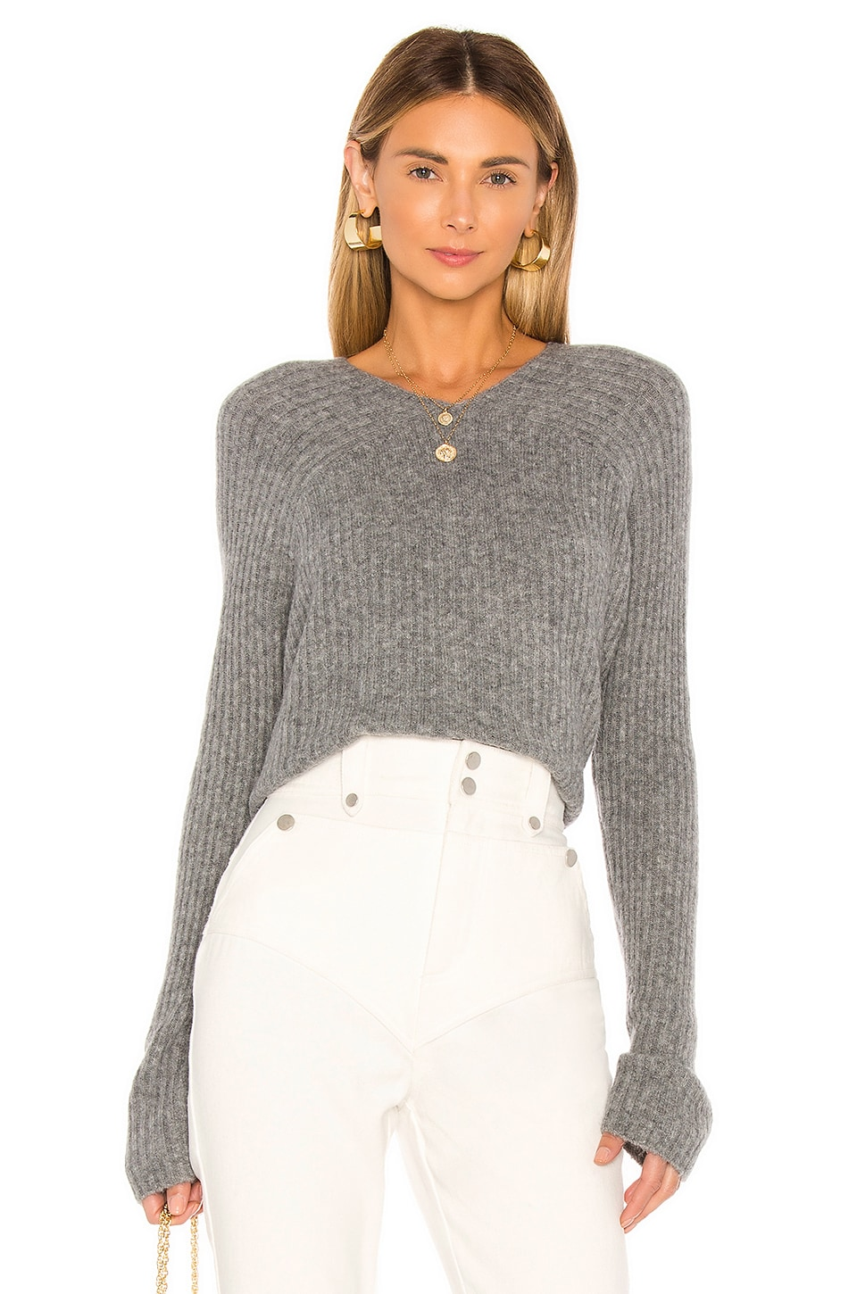 L'Academie Antonia Sweater in Charcoal