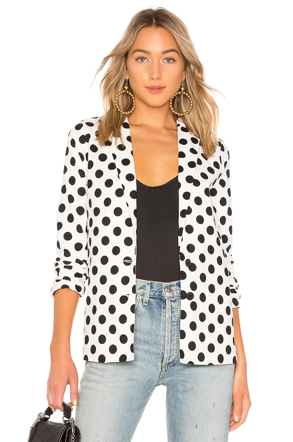 L'Academie The Sierra Blazer in Black White Dot