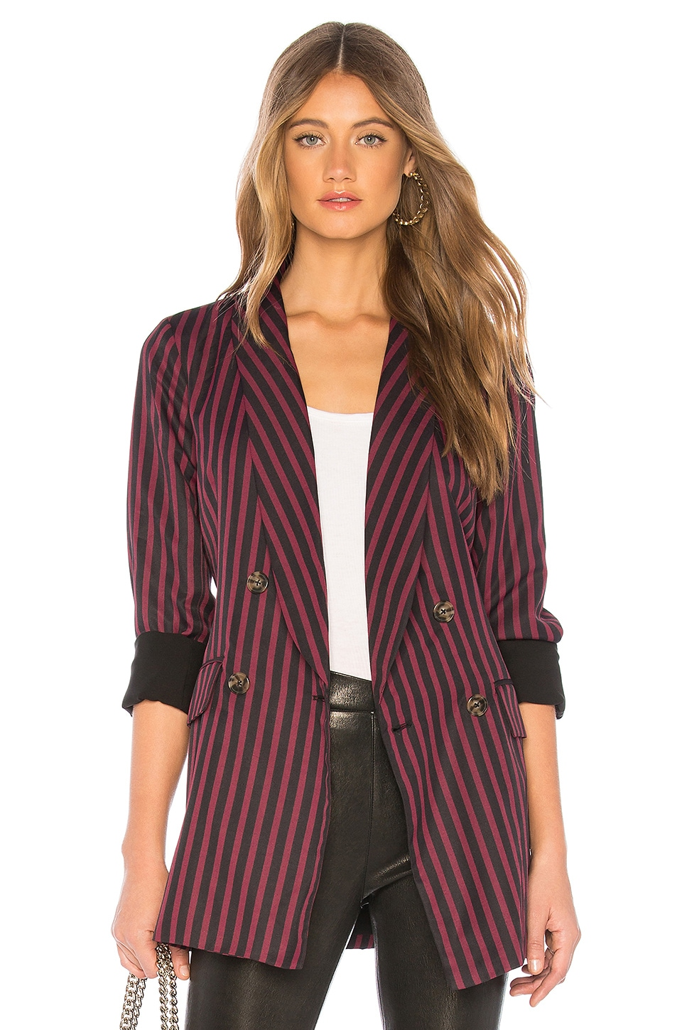L'Academie The Lana Jacket in Red Stripe