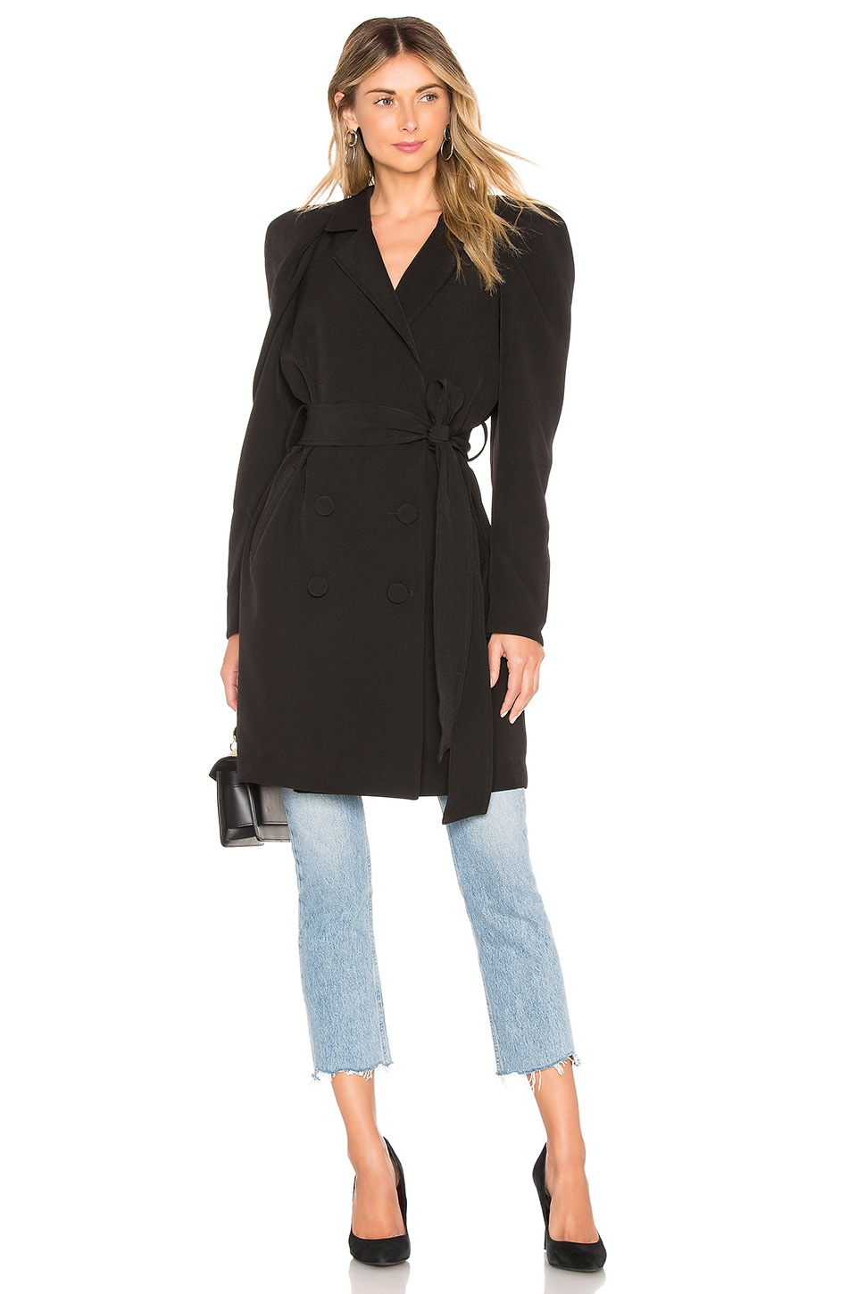 L'Academie The Tracey Coat in Black