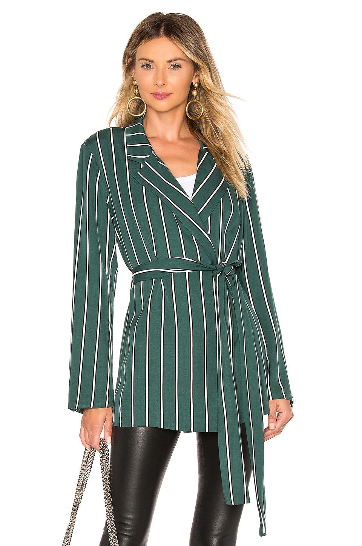 L'Academie The Erin Jacket in Kelly Green Stripe