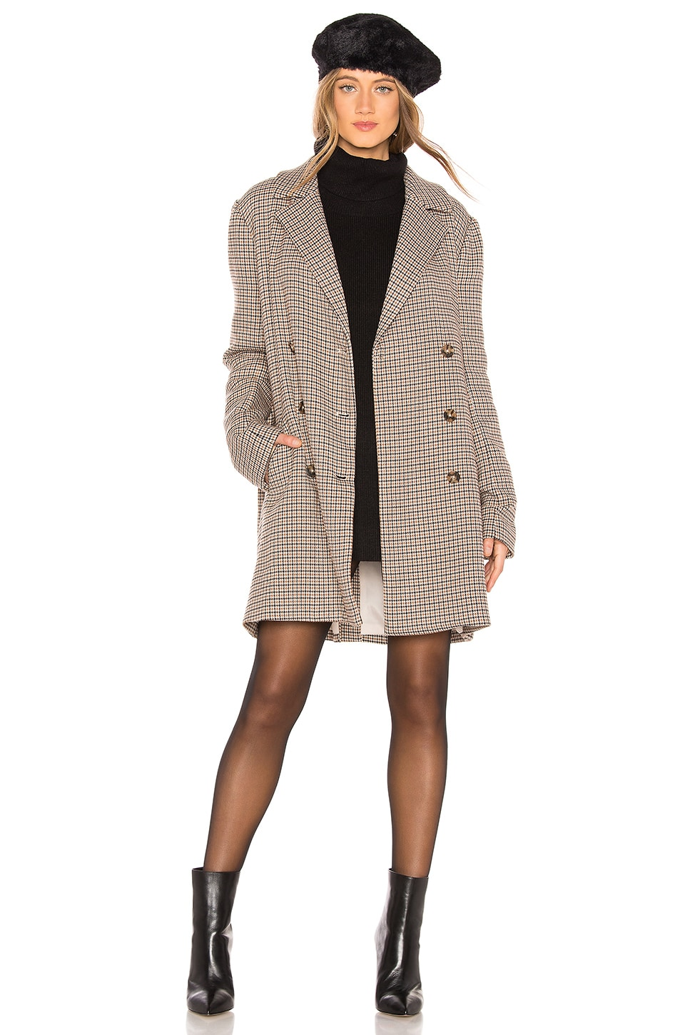 L'ACADEMIE The Claire Coat in Brown