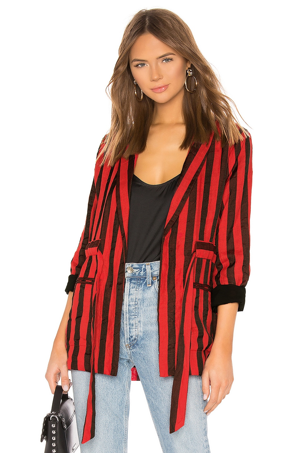 L'Academie The Jules Robe in Red & Black