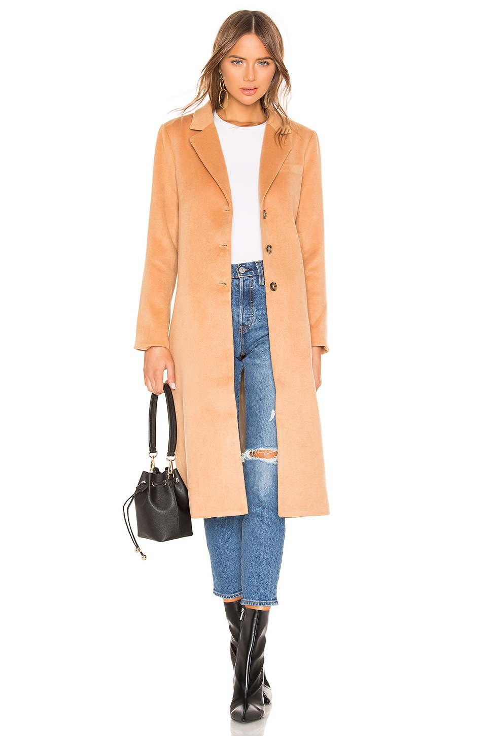 L'ACADEMIE The Tyler Coat in Tan