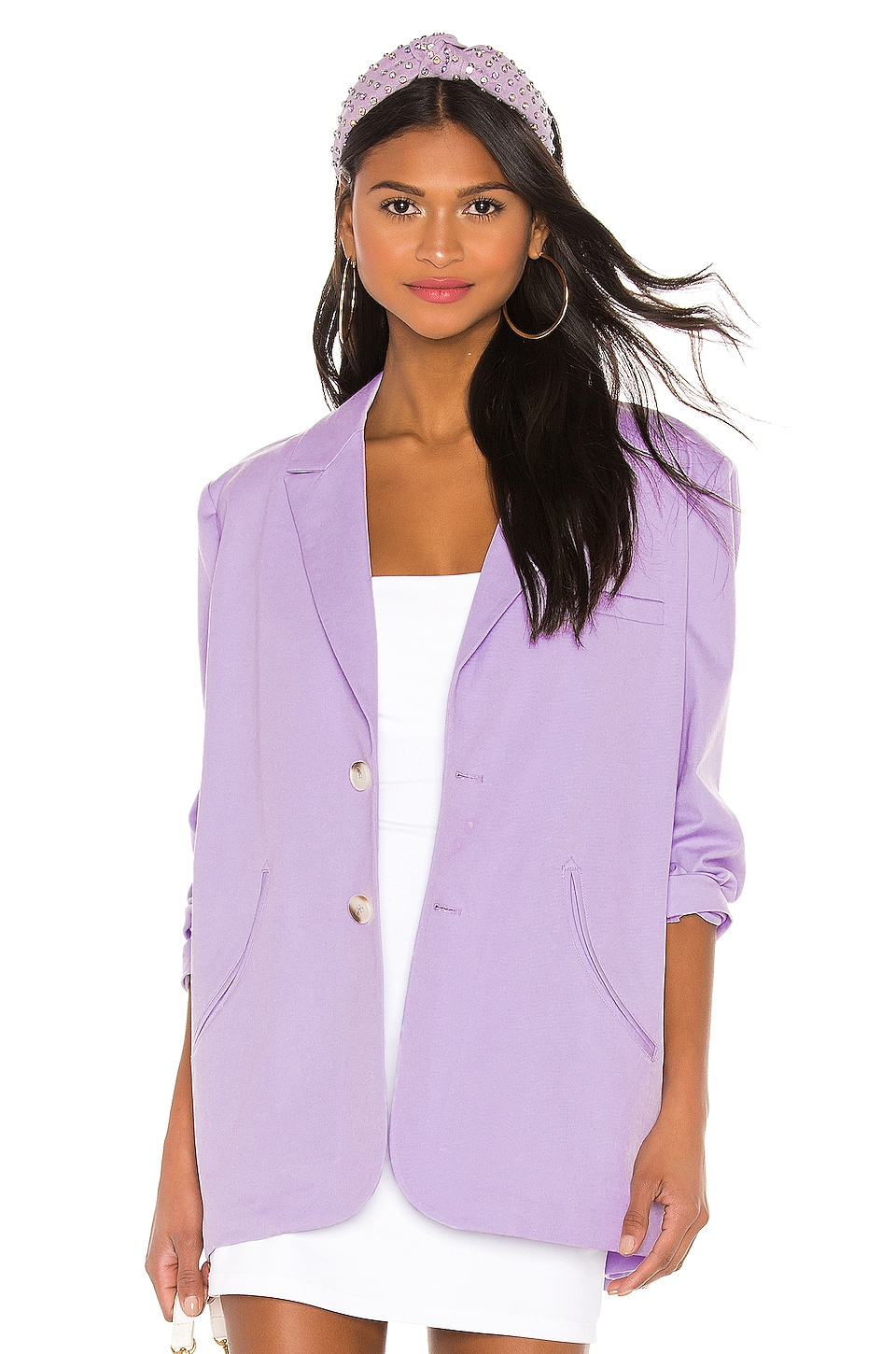 L'Academie The Annie Blazer in Lavender