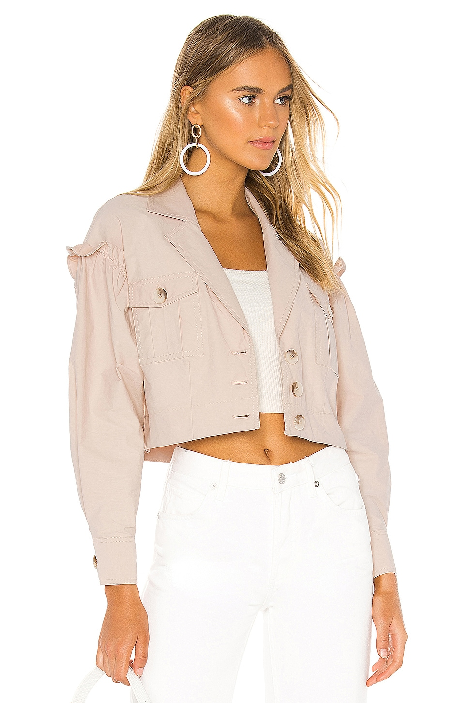 L'Academie The Dany Jacket in Blush