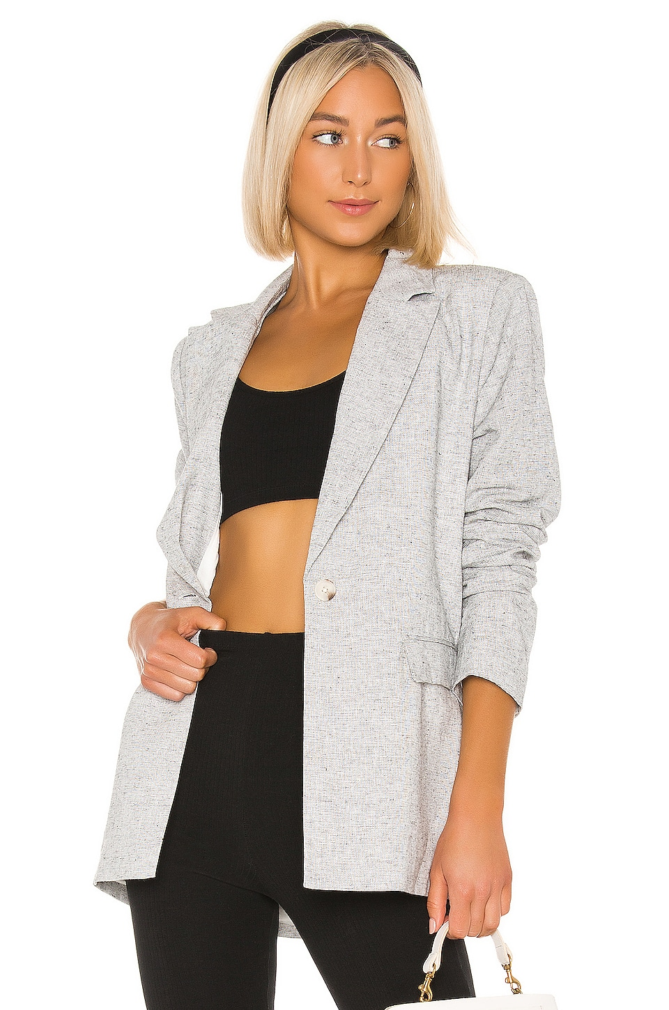 L'Academie The Jeanette Blazer in Black & White