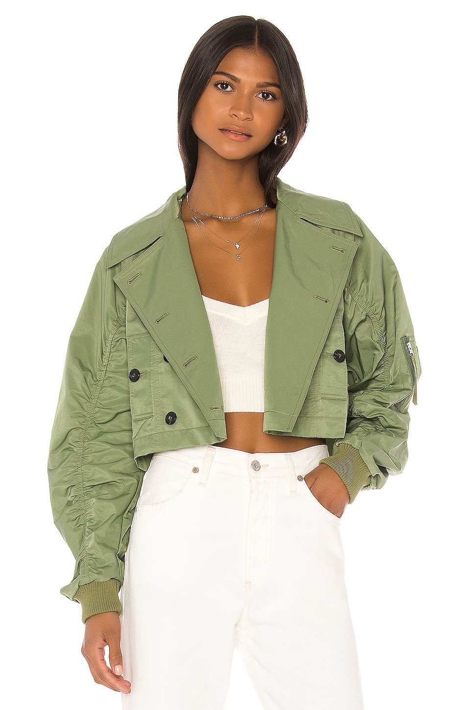 L'Academie The Kari Jacket in Dusty Jade