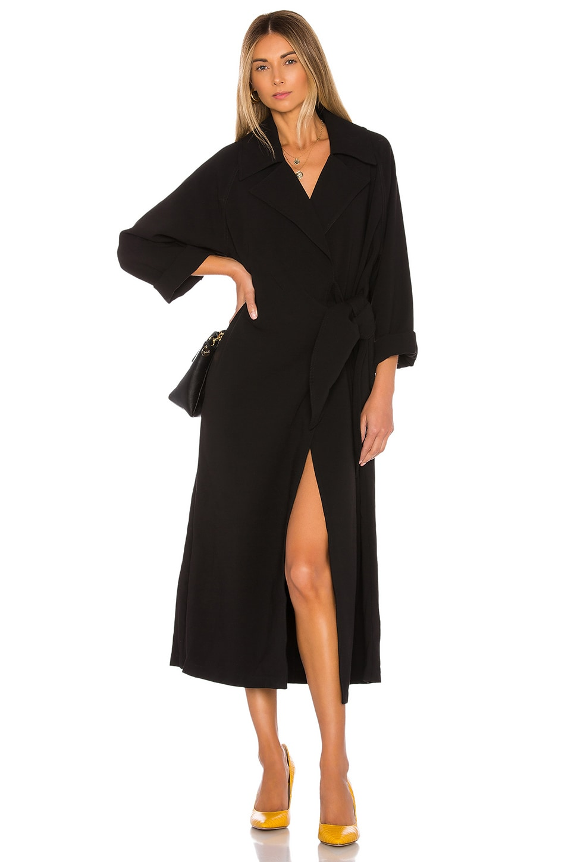L'Academie The Magdala Coat in Black