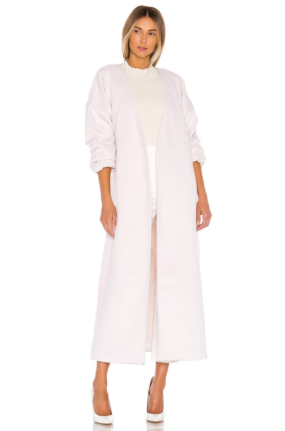 L'Academie The Robertina Coat in Seashell White