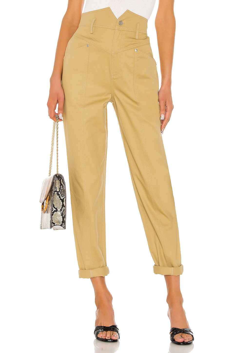 L'Academie The Voletta Pant in Khaki