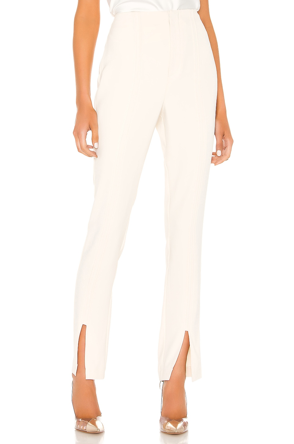 L'Academie The Hanriette Pant in Ivory