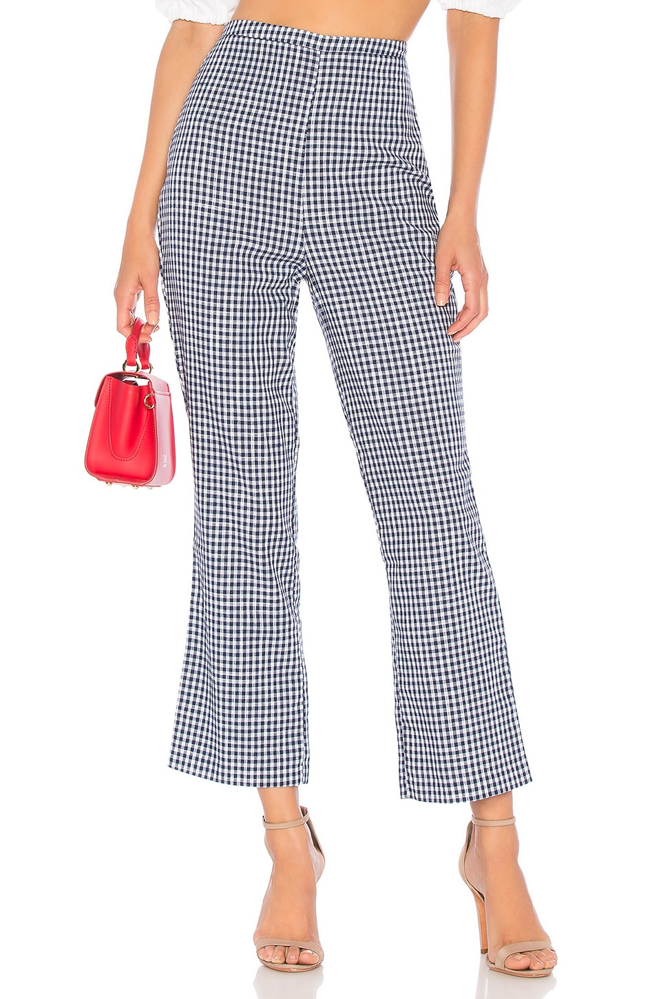 L'Academie The Roxo Pant in Navy Check