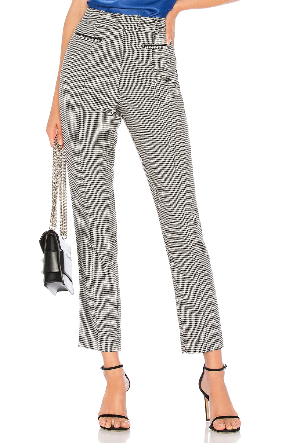 L'Academie The Alessia Pant in Black Houndstooth