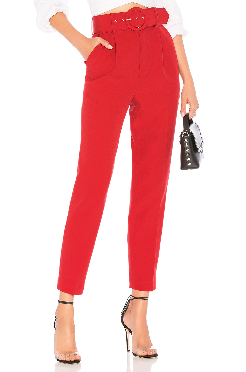 L'Academie The Mia Pant in Scarlet Red