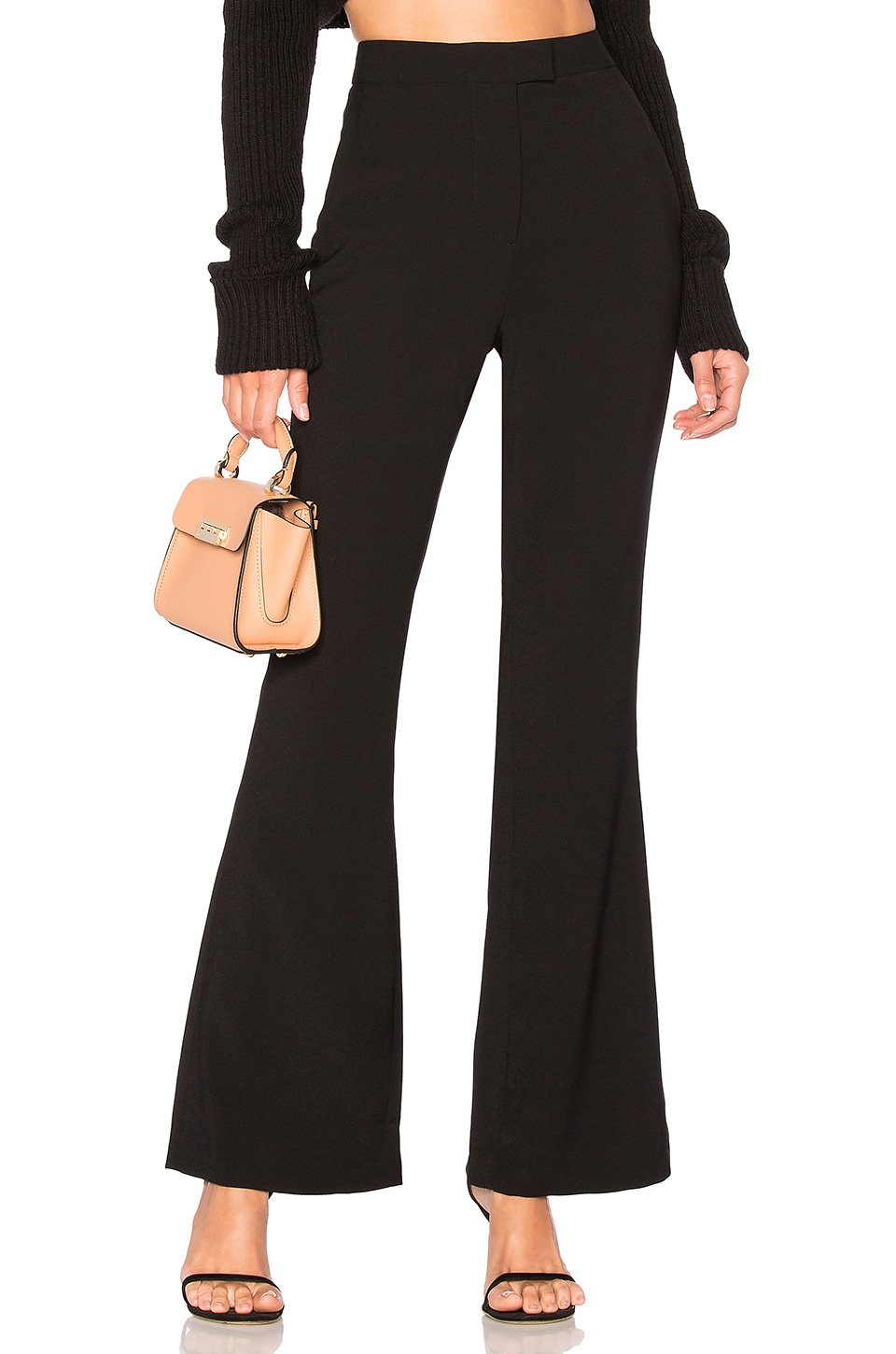 L'Academie Harmony Flared Pants in Black