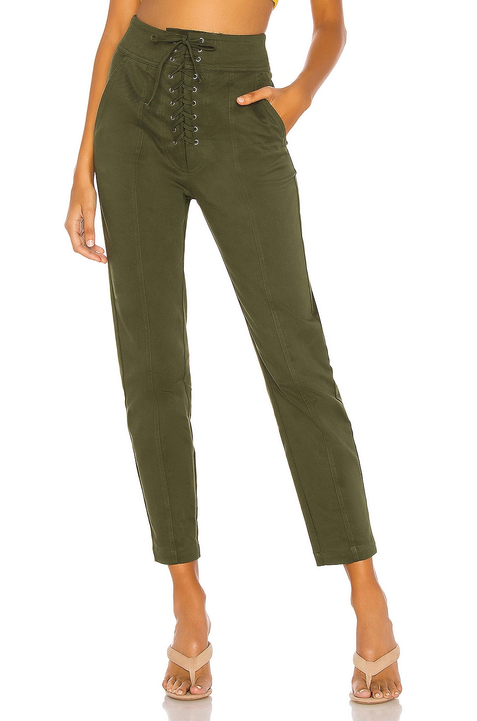 L'Academie Foley Pants in Green