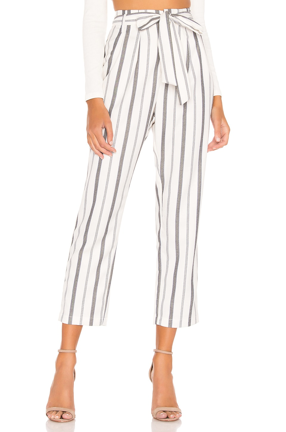 L'Academie Brenda Pants in Blue Stripe