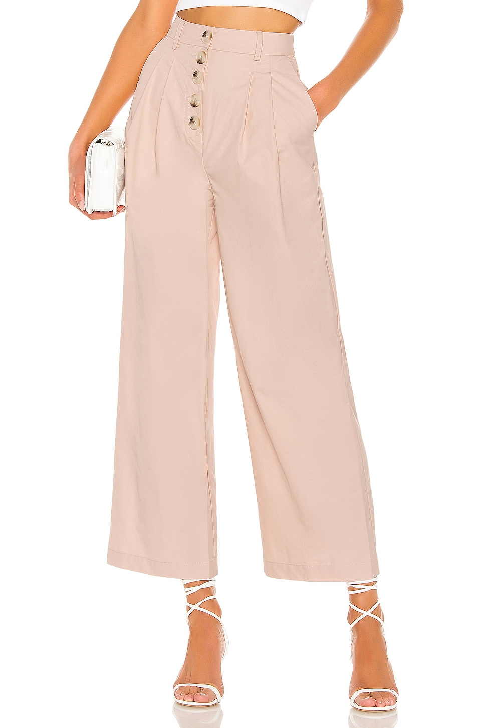 L'Academie The Delphine Pant in Blush
