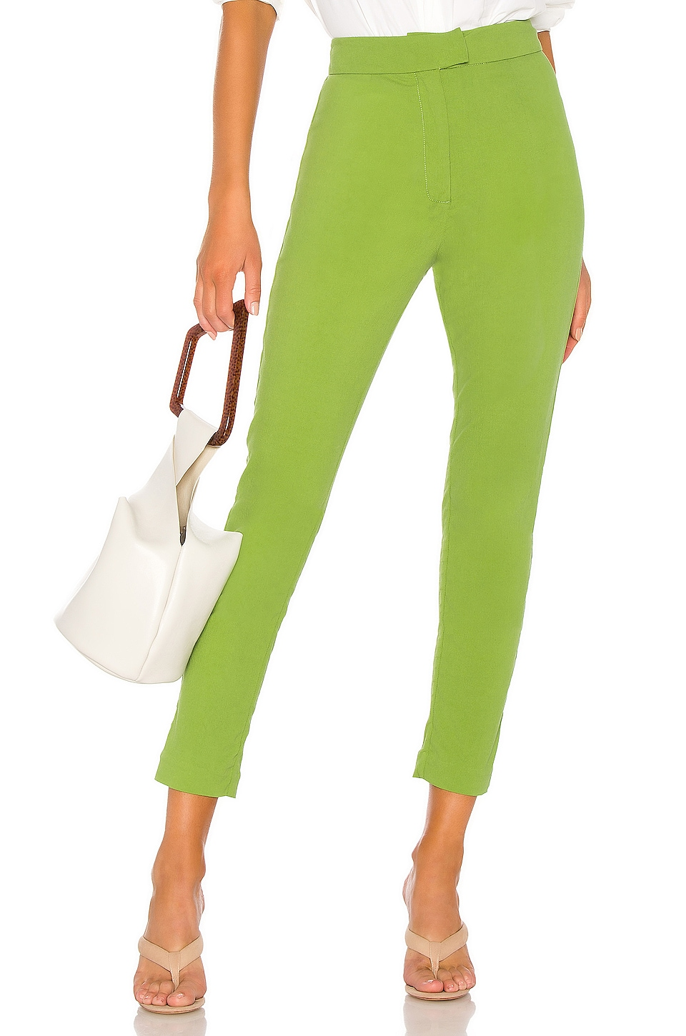 L'Academie The Valeria Pant in Moss