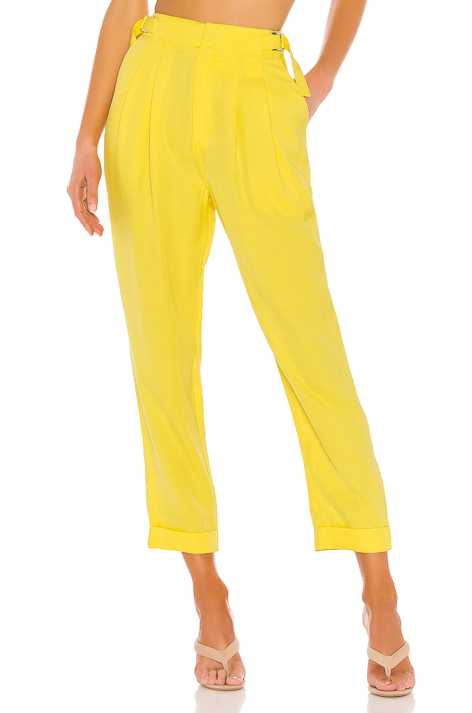 L'Academie The Agnes Pant in Yellow