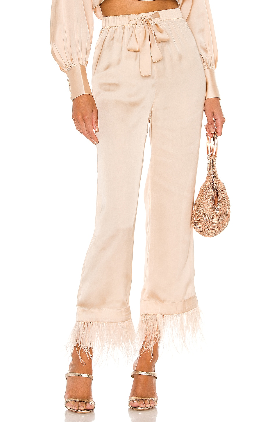 L'Academie The Chantal Pant in Ivory Cream
