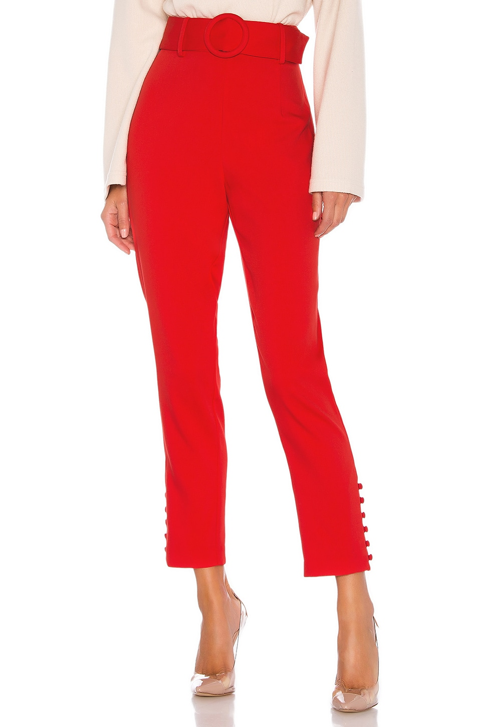 L'Academie The Ludovica Pant in Scarlet Red