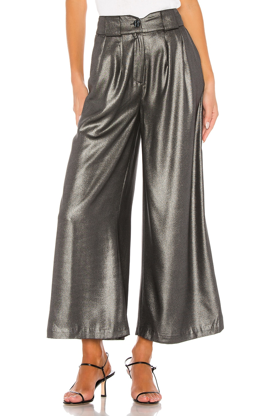 L'Academie The Leelee Pant in Silver
