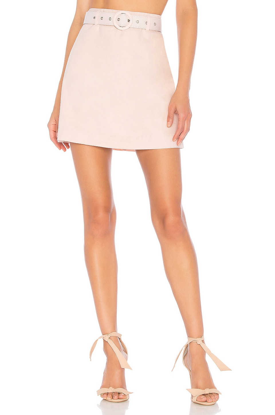 L'Academie The Paulo Mini Skirt in Light Pink