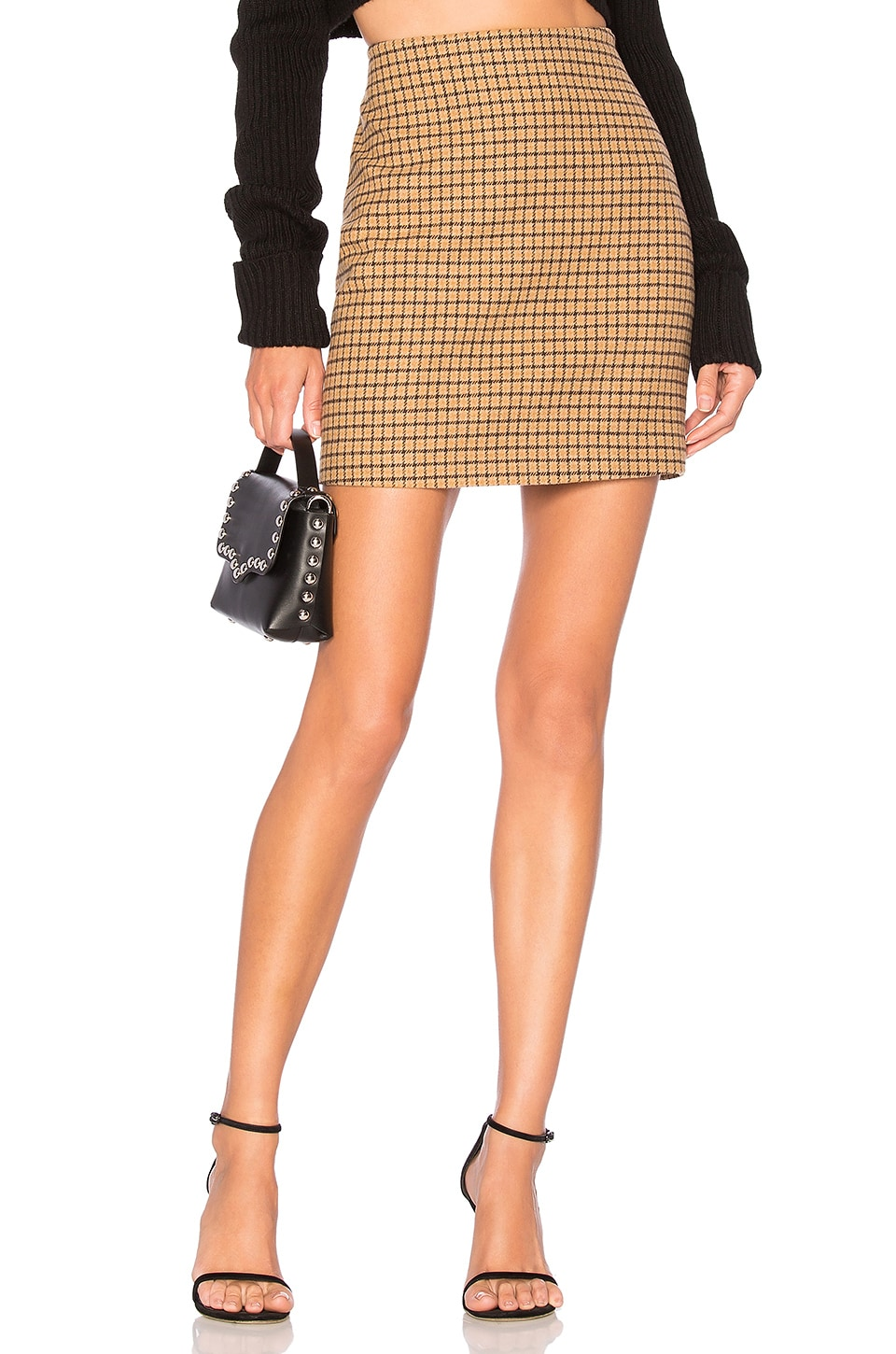 L'Academie The Lana Mini Skirt in Yellow