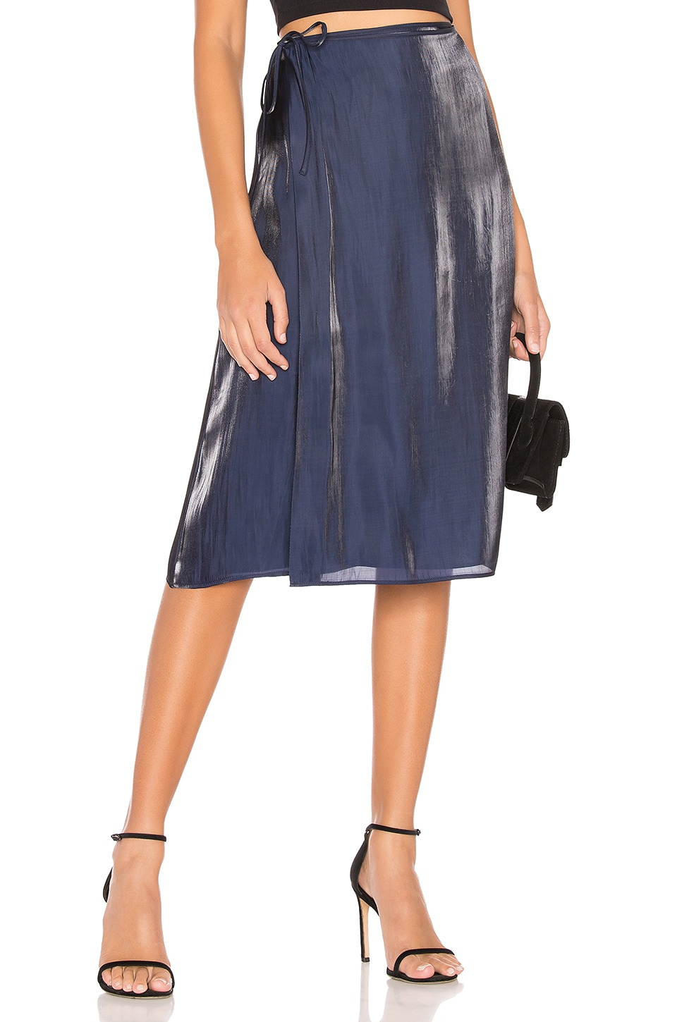 L'Academie The Amora Midi Skirt in Eclipse